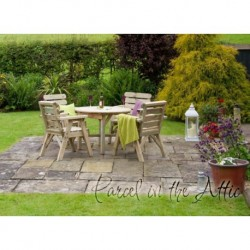 Zaragoza Solidwood Outdoor Furniture Dining Set -Table & 4 Chair Set