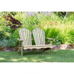 Murcia Solidwood Outdoor Adirondack 2 Seat Bench Chair