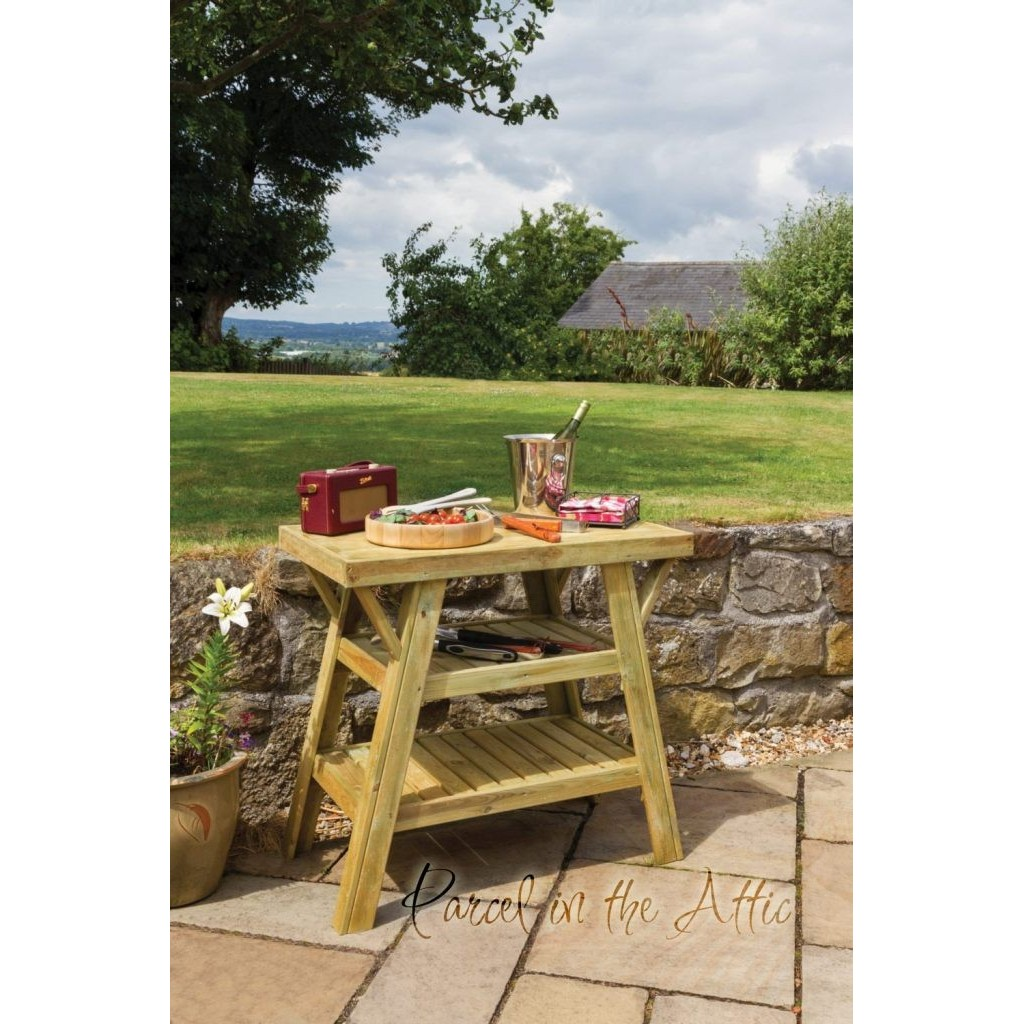 Outdoor Bbq Side Table.Murcia Solidwood Outdoor Bbq Side Table