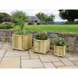 Valladolid Set of 3 Solidwood Garden Planters