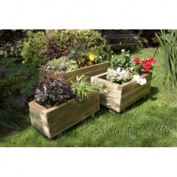Cordoba Set of 3 Solidwood Garden Planters