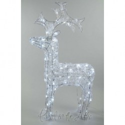 120cm/4ft Acrylic Standing Reindeer Outdoor - Cool White LED